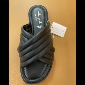 Mila Paoli Made in Italy Leather Black Sandals